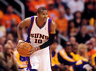 May 25, 2010; Phoenix, AZ, USA; Phoenix Suns guard Leandro Barbosa (10) handles the ball during the second half in game four of the western conference finals in the 2010 NBA Playoffs at US Airways Center.  The Suns defeated the Lakers 115 - 106.  Mandatory Credit: Jennifer Stewart-US PRESSWIRE