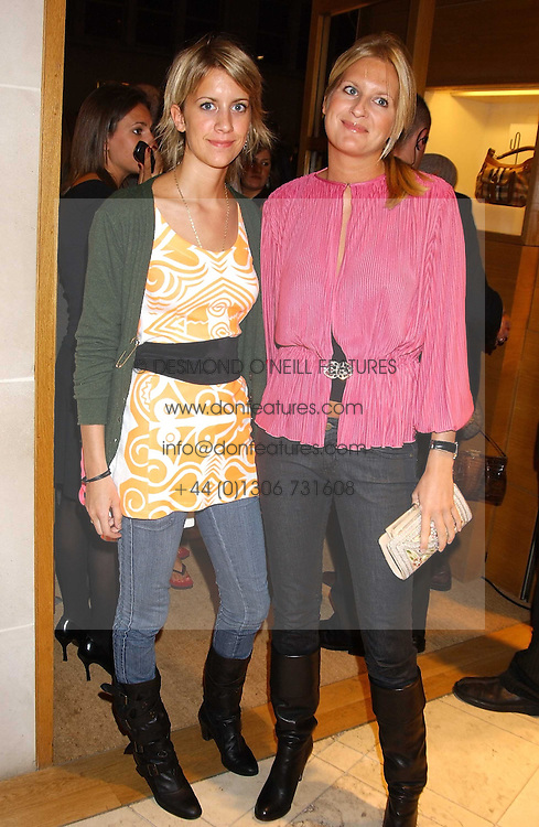 Left to rifgr, sisters LADY CANDIDA BALFOUR and LADY MARIA BALFOUR at a party hosted by Christopher Bailey to celebrate the launch of &quot;The Snippy World of New Yorker Fashion Artist Michael Roberts&quot; held at Burberry, 21-23 New Bond Street, London on 20th September 2005.<br /><br />NON EXCLUSIVE - WORLD RIGHTS