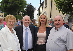 Pictured at the Louisburgh Twinning event last week, Delia Coen, Patricia Coen Michael Ring TD Minister for Rural and Community Development and John Maxwell.<br /> Pic Conor McKeown