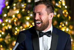 Luke Morahan of Bristol Bears is interviewed as Bristol Sport hosts their annual Gala Dinner at Ashton Gate Stadium - Rogan/JMP - 05/12/2018 - SPORT - Ashton Gate Stadium - Bristol, England - Bristol Sport Gala Dinner 2018.