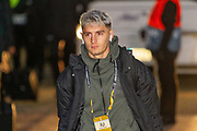 Victor Nelsson of FC Copenhagen arrives at Parkhead ahead of the Europa League match between Celtic and FC Copenhagen at Celtic Park, Glasgow, Scotland on 27 February 2020.