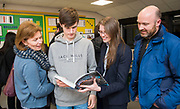 "21 February 2018: Louth Academy Sixth Form Open Evening.<br /> Toby Alexander currently in Year 10 at King Edward V1 Grammar School.<br /> Toby: ""I'm keeping options open. I want to do engineering so looking at doing  Physics at A Levels. I'm quite impressed. The facilities are very good in comparison.""<br /> Pictured with mum and dad Sarah and Mark. Also pictured is Mrs Rosie Hermiston (centre right) Physics and Chemistry teacher. <br /> Picture: Sean Spencer/Hull News & Pictures Ltd<br /> 01482 210267/07976 433960<br /> www.hullnews.co.uk         sean@hullnews.co.uk"