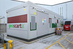 Geothermal energy generator, new Sainsbury's superstore, Thanet, Kent UK