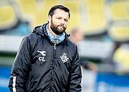 FODBOLD: Cheftrænrer Christian Lønstrup (FC Helsingør) ser på under opvarmningen til kampen i ALKA Superligaen mellem FC Helsingør og Brøndby IF den 22. oktober 2017 på Helsingør Stadion. Foto: Claus Birch