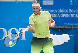 Gian Marco Moroni (ITA) in action during Day 6 at ATP Challenger Zavarovalnica Sava Slovenia Open 2018, on August 8, 2018 in Sports centre, Portoroz/Portorose, Slovenia. Photo by Vid Ponikvar / Sportida