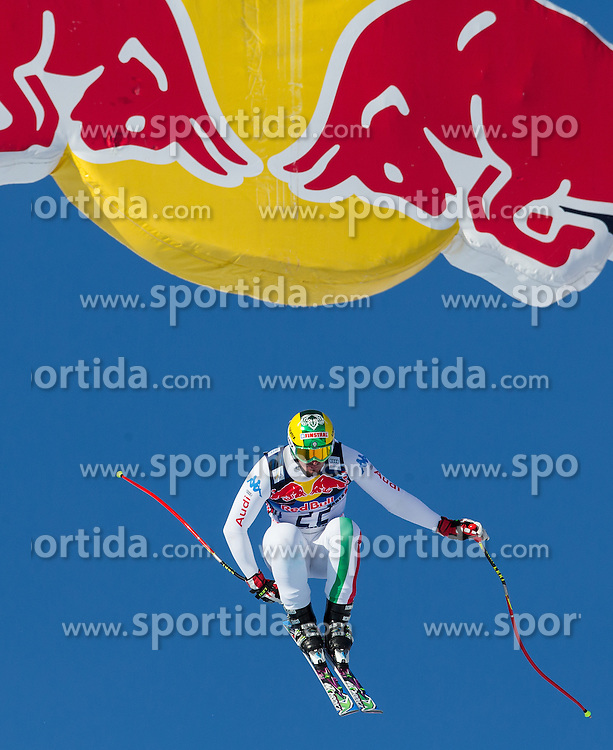 24.01.2013, Streif, Kitzbuehel, AUT, FIS Weltcup Ski Alpin, Abfahrt, Herren, 3. Training, im Bild Dominik Paris (ITA) // Dominik Paris of Italy in action during 3th practice of mens Downhill of the FIS Ski Alpine World Cup at the Streif course, Kitzbuehel, Austria on 2013/01/24. EXPA Pictures © 2013, PhotoCredit: EXPA/ Johann Groder