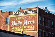 Butte, Montana, Scandia Hall, Antique mural, uptown