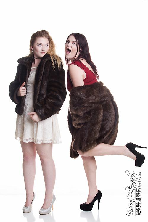 winter glamour fashion portrait session