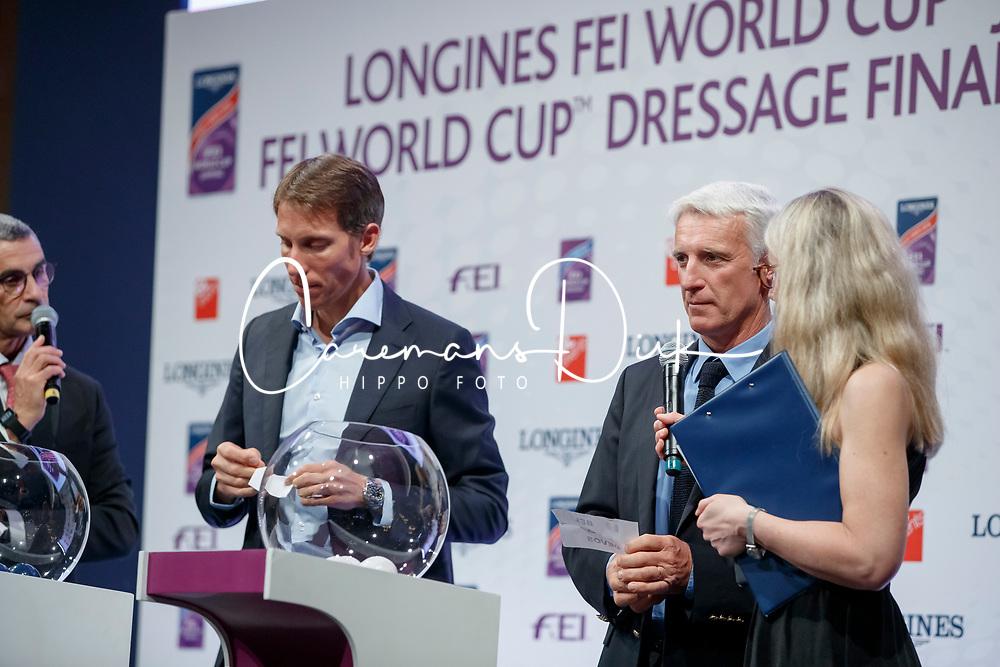 von Eckermann Henrik, SWE, Bost Roger Yves, FRA<br /> LONGINES FEI World Cup™ Finals Paris 2018<br /> © Hippo Foto - Stefan Lafrentz<br /> 11/04/2018