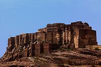 Meherangarh Fort in the beautiful city of jodhpur in rajasthan state in india
