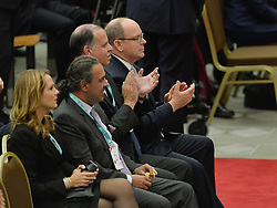 October 5, 2016 - Vatican City, Vatican - Alberto di Monaco during Conference Sport at service of humanity, at the Vatican on october 05, 2016  The goal of the conference is to create a forum where leaders from different religious faiths, sports, business, academia and media can discuss how faith and sport can work together to better serve humanity. (Credit Image: © Silvia Lore/NurPhoto via ZUMA Press)