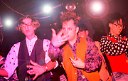 Clubbers on the podiums/main dancefloor at the Hacienda, Manchester 1988