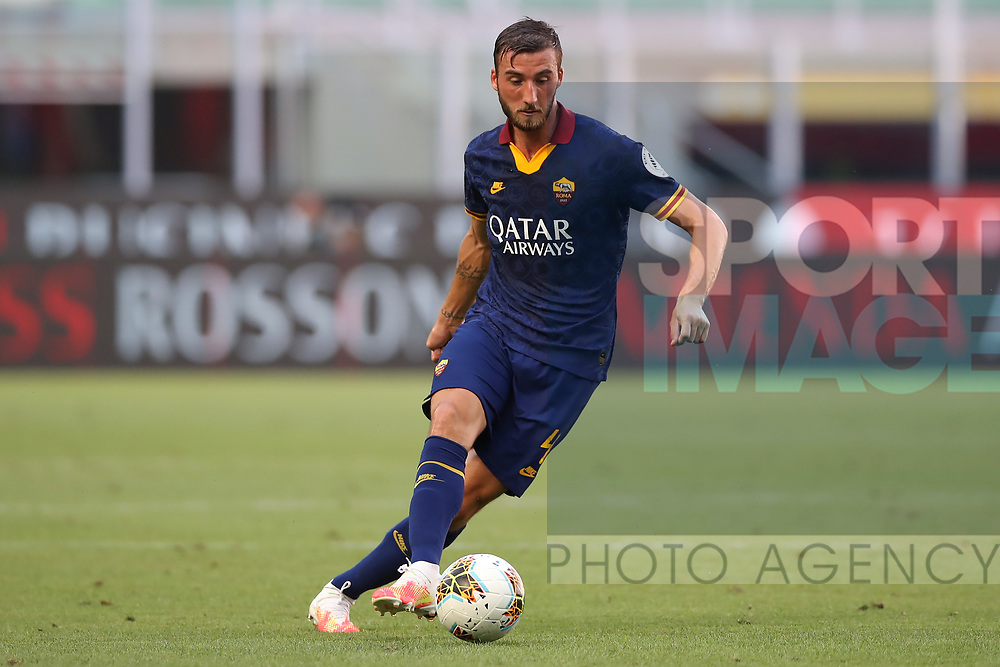AS Roma's Italian midfielder Bryan Cristante during the Serie A match at Giuseppe Meazza, Milan. Picture date: 28th June 2020. Picture credit should read: Jonathan Moscrop/Sportimage
