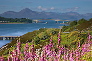 Telephoto view towards the Skye bridge and the Kyle of Lochalsh, N/W Highlands