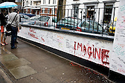 "London | April 7, 2010 | Thousands visit Abbey Road Studios in northwest London every year and leave a note at the outside walls of the venue. One reads ""imagine"" and is painted in big red letters 