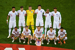 MOSCOW, RUSSIA - Wednesday, July 11, 2018: England players line-up for a team group photograph before the FIFA World Cup Russia 2018 Semi-Final match between Croatia and England at the Luzhniki Stadium. (Pic by David Rawcliffe/Propaganda)