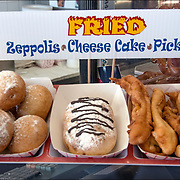Fried Oreos and other fried foods are a state fair and boardwalk specialty, you really haven't lived. Fried Zeppolis. and other deep-fried foods, and anything you can think of that can be shoved on a stick... forget about cholesterol levels and caloric intake and PIG OUT!
