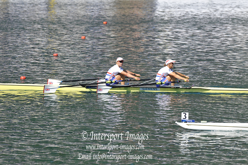 Bled, SLOVENIA. GBR W2X. Bow Anna WATKINS and Katherine GRAINGER, Gold medalist Women's double sculls final at the  2011 FISA World Rowing Championships, Lake Bled. Saturday  03/09/2011  [Mandatory Credit; Peter Spurrier/ Intersport Images]