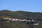 Botticella in front of the windmills on top of Col de la Serra.