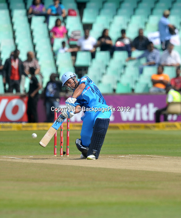 Henry Davids of Titans during the 2012 Champions League match Twenty20 ,Auckland Aces and Titans at the Kingsmead Stadium in Durban , 17 October 2012<br />   <br /> <br /> &copy; Sabelo Mngoma/BackpagePix