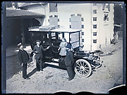 posing with the new shiny automobile France circa 1910s