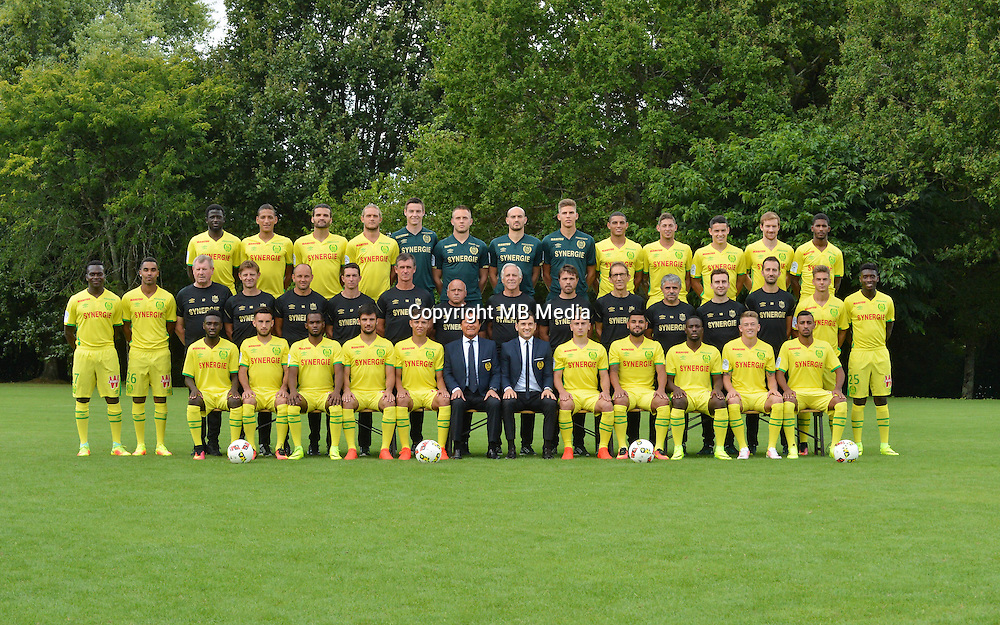 Team group of Nantes during photocall of Fc Nantes for new season of Ligue 1 on September 14th 2016<br /> Photo : Fcna / Icon Sport