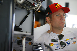 November 16, 2018 - Homestead, Florida, U.S. - Jamie McMurray (1) hangs out in the garage during practice for the Ford 400 at Homestead-Miami Speedway in Homestead, Florida. (Credit Image: © Chris Owens Asp Inc/ASP)