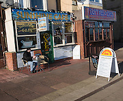 Seaside cafes, Great Yarmouth, Norfolk, England