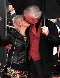 """Edinburgh International Film Festival, Sunday 26th June 2016<br /> <br /> Stars turn up on the closing night gala red carpet for the World Premiere of """"Whisky Galore!""""  at the Edinburgh International Film Festival 2016<br /> <br /> Ann Louis Ross who plays Mrs Campbell in the film with Nils den Hertog<br /> <br /> (c) Alex Todd 