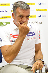 Vlado Makuc during press conference of Slovenian Men Alpine Ski Team, on August 22, 2011, in SZS, Ljubljana, Slovenia. (Photo by Vid Ponikvar / Sportida)