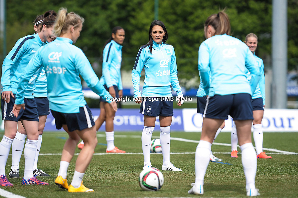 Louisa Necib - 13.05.2015 - Entrainement - Equipe de France de Football feminin<br /> Photo : Andre Ferreira / Icon Sport