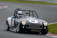 #12 Ian Staines MG Midget 1800 during the CSCC Special Saloons and Modsports at Oulton Park, Little Budworth, Cheshire, United Kingdom. October 15 2016. World Copyright Peter Taylor/PSP. <br /> Copy of publication required for printed pictures.  Every used picture is fee-liable. http://archive.petertaylor-photographic.co.uk