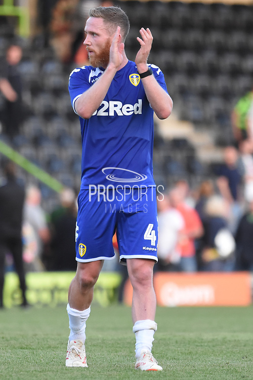 Leeds United's Adam Forshaw(4) applauds the fans during the Pre-Season Friendly match between Forest Green Rovers and Leeds United at the New Lawn, Forest Green, United Kingdom on 17 July 2018. Picture by Alan Franklin.