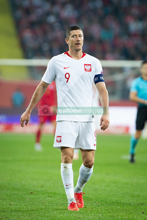 October 11, 2018 - Chorzow, Slask, Poland - Robert Lewandowski during the UEFA Nations League A soccer match between Poland and Portugal at Silesian Stadium in Chorzow, Poland on 11 October 2018  (Credit Image: © Mateusz Wlodarczyk/NurPhoto via ZUMA Press)