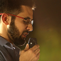 Jaber Nyrabeah, Chairman of the Local Chapter of the Syrian American Council speaks during a candlelight vigil in memory of American freelance journalist Steven Sotloff at the University of Central Florida in Orlando, Florida, USA, 03 Septemvber 2014. Sotloff was reportedly executed by the Islamic State according to a video released by the group on 02 September. Sotloff was a former student at the university.