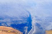 Nederland, Friesland, Het Bildt, gemeente Waadhoeke, 04-11-2018; Noord-Friesland Buitendijks, kweldergebied Noorderleeg, waddenkust en landaanwinning. Uitwatering van de Kouwe Faart op het wad, bij Zwarte Haan.<br /> Fries: Noarderleech , onderdeel van Noard-Fryslân Bûtendyks.<br /> Frisian coast, salt marsh and mudflat area with land reclamation.<br /> luchtfoto (toeslag op standaard tarieven);<br /> aerial photo (additional fee required);<br /> copyright © foto/photo Siebe Swart