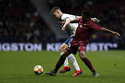March 22, 2019 - Madrid, Madrid, Spain - Argentina's Juan Foyth and Venezuela's Alejandro Guerra are seen in action during the International Friendly match between Argentina and Venezuela at the wanda metropolitano stadium in Madrid. (Credit Image: © Manu Reino/SOPA Images via ZUMA Wire)