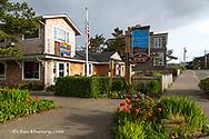 Small seaside town of Cannon Beach, Oregon, USA