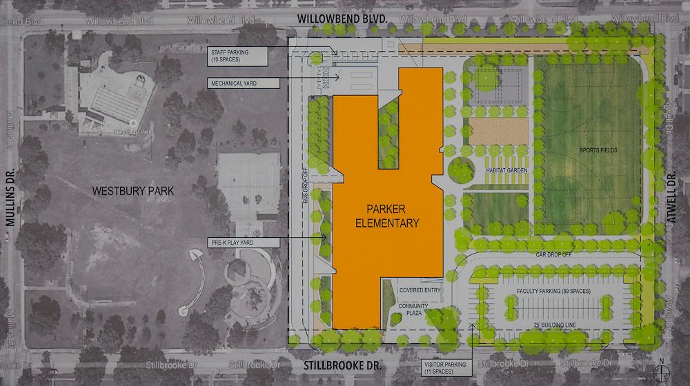 Community meeting to discuss design progress of Parker Elementary School, December 15, 2014.