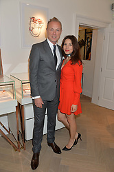 GARY & LAUREN KEMP  at a party to celebrate the launch of the new Stephen Webster Salon at 130 Mount Street, London on 18th May 2016.