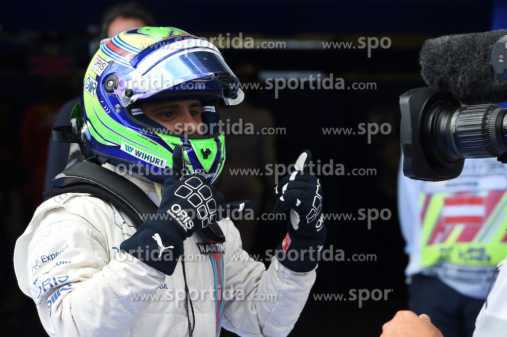 21.06.2014, Red Bull Ring, Spielberg, AUT, FIA, Formel 1, Grosser Preis von &Ouml;sterreich, Qualifying, im Bild Pole sitter Felipe Massa (BRA) Williams celebrates in parc ferme. // during the qualifying of the Austrian Formula One Grand Prix at the Red Bull Ring in Spielberg, Austria on 2014/06/21. EXPA Pictures &copy; 2014, PhotoCredit: EXPA/ Sutton Images<br /> <br /> *****ATTENTION - for AUT, SLO, CRO, SRB, BIH, MAZ only*****