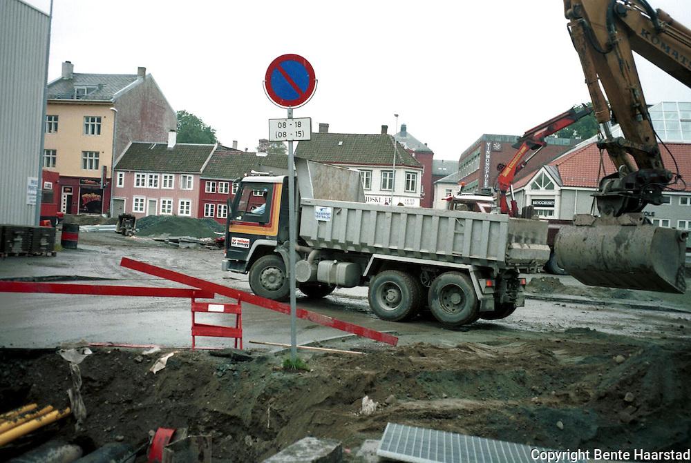 Byggestart nytt Trøndelag Teater, Leuthenhaven, 1995 el. -96