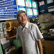 Chef Danny Bowien is photographed at his restaurant, Mission Chinese, at its New York City location on the Lower East Side of Manhattan on Tuesday, July 31, 2012 in New York, NY..