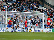Rory Loy (9) strokes home the winning goal - Dundee v Wigan Athletic - pre season friendly at Dens Park<br /> <br />  - &copy; David Young - www.davidyoungphoto.co.uk - email: davidyoungphoto@gmail.com