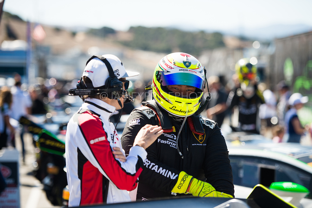 September 21-24, 2017: Lamborghini Super Trofeo at Laguna Seca. Yuki Harata, Dream Racing Motorsport, Lamborghini Las Vegas, Lamborghini Huracan LP620-2