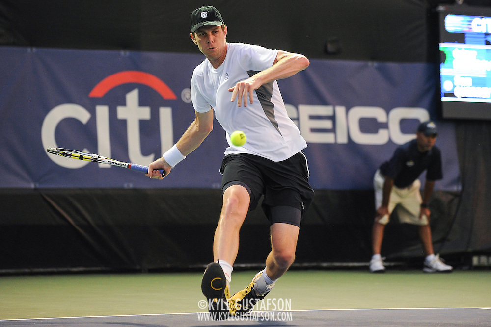 Washington DC - August 3rd, 2013 - Sam Querrey at the 2013 CitiOpen Tennis Tournament in Washington, D.C.