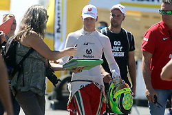 Mick Schumacher gibt Autogramme beim ADAC Formel 4 Rennen am Nürburgring / 070816<br /> <br /> *** ADAC Formula 4 2016 on August 7, 2016 at Nurburgring, Germany ***
