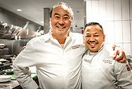 Chef George Chen and Daniel Sudar in the kitchen at China Live in San Francisco.