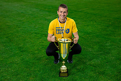 Aleksander Palamar during celebration of NK Bravo, winning team in 2nd Slovenian Football League in season 2018/19 after they qualified to Prva Liga, on May 26th, 2019, in Stadium ZAK, Ljubljana, Slovenia. Photo by Vid Ponikvar / Sportida