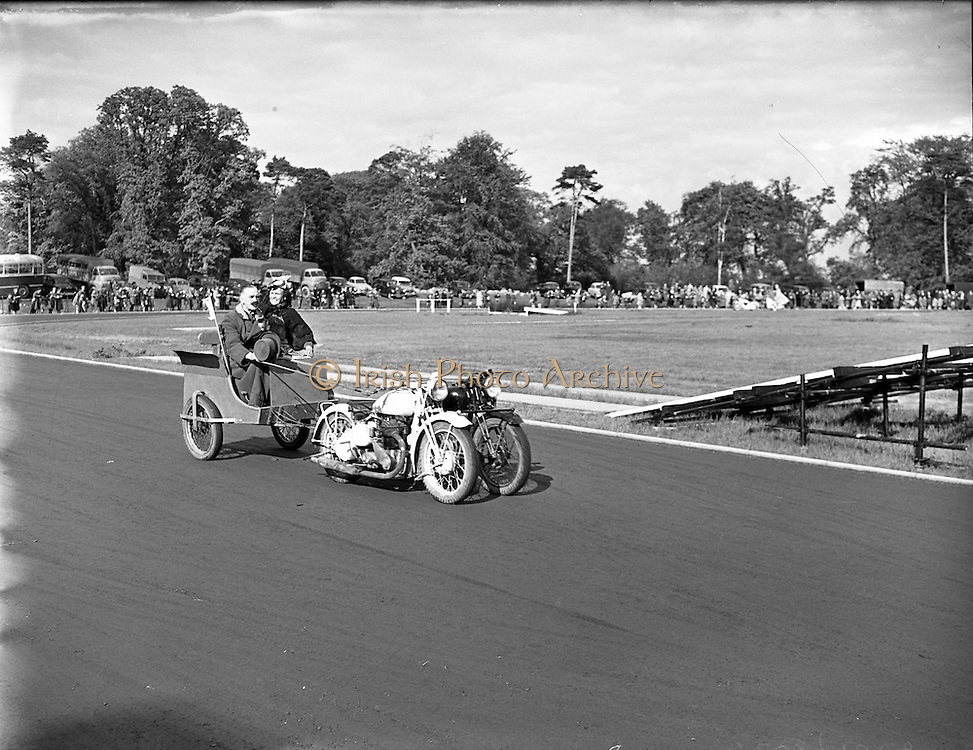 26/06/1958<br /> 06/26/1958<br /> 26 June !958<br /> Strange contraption at the Tattoo at Santry Stadium - Special for US Air Force.